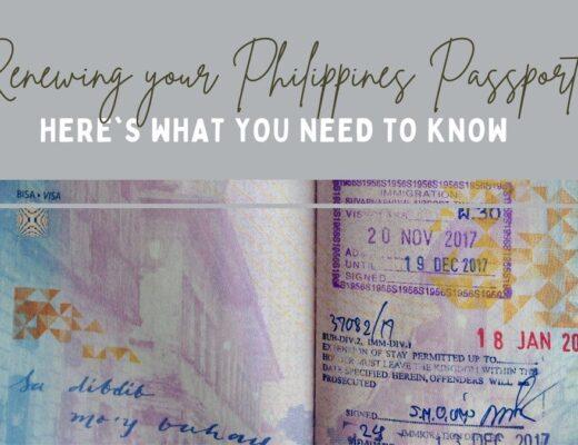 Renewing your Philippines Passport