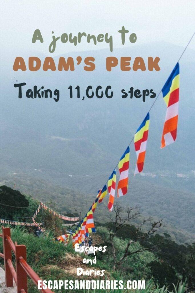 A journey to Adam's Peak. Taking 11,000 steps.Pinterest